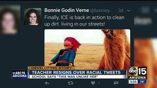 Teacher resigns over racial tweets