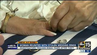 Mesa woman gets rings back after 2012 theft