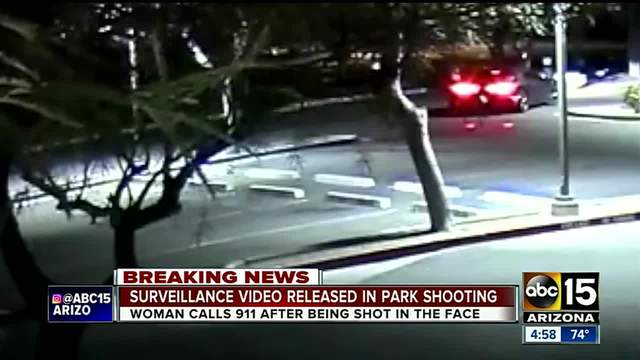 Surveillance video released after woman shot in face in Peoria