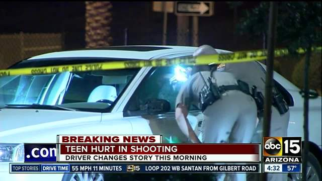 MCSO- Teen driver shot in west Valley early Wednesday morning