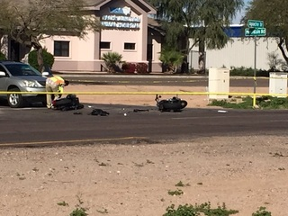 MCSO: 1 killed, 1 hurt in 2-motorcycle crash