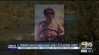 Man stuck in flood called friends before death
