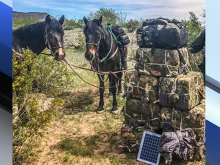 Horse patrol unit makes drug discovery in desert