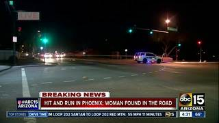 Woman found injured along Phoenix road