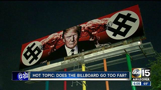 Anti-President Trump billboard paid for by local business owner causing…