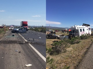 DPS: 2 killed in 8-vehicle crash near Kingman