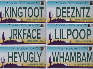 PHOTOS: 100 personalized plates rejected in AZ