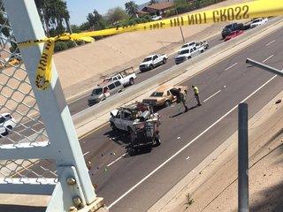 PD: 1 dead, 3 hurt after car lands on I-17
