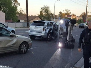 PD: Self-driving SUV involved in car accident
