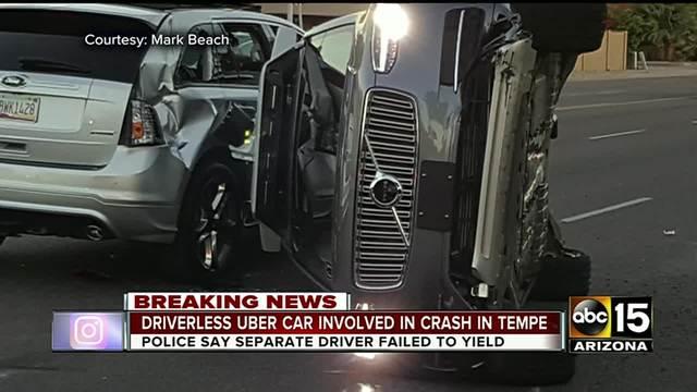 Self-driving Uber involved in Tempe car crash