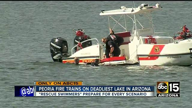 Training keeps Peoria firefighters sharp at Arizona-s most deadly lake