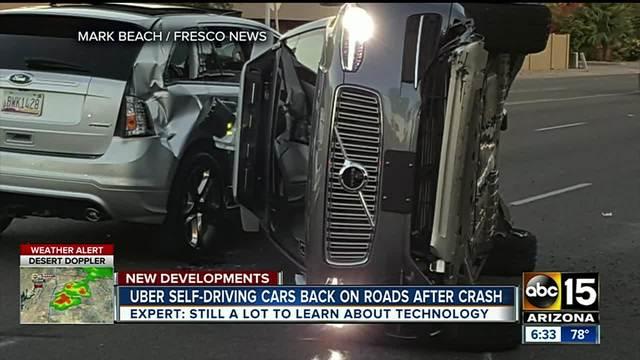 Uber self-driving cars back on road after Tempe crash