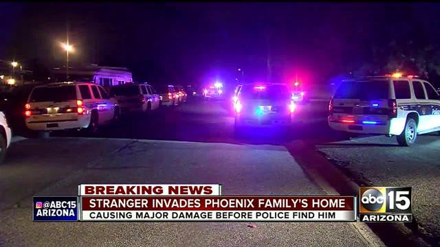 Phoenix police arrest intruder for breaking into home- doing -1-000 in damage