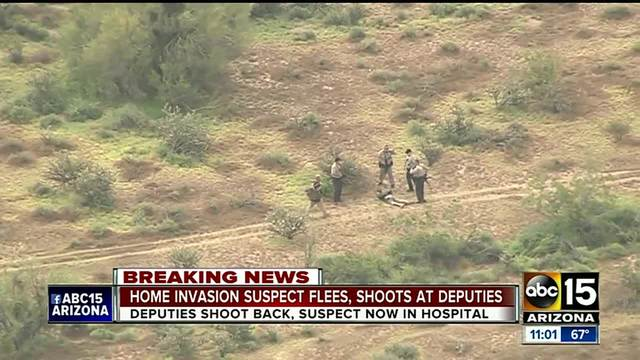 Buckeye home invasion suspect shot by deputies after pursuit ends in…