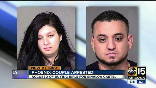 Phoenix police arrest couple for buying sniper rifle for Mexican cartel