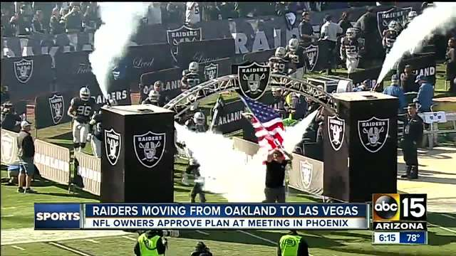 Raiders moving from Oakland to Las Vegas