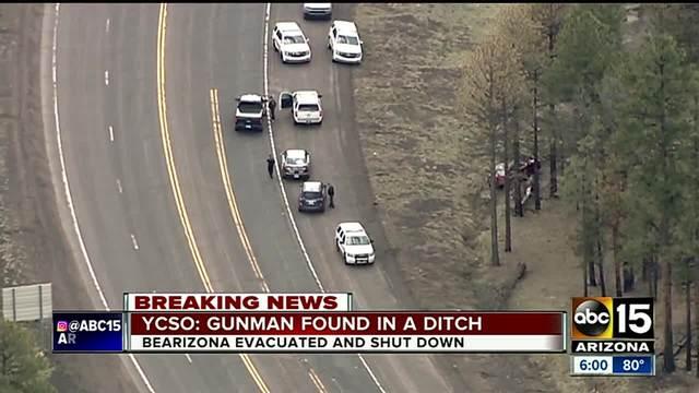 Gunman captured in ditch near Bearizona