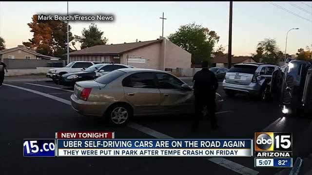 Uber resumes self-driving car program after Tempe crash