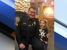 VIDEO: Police officer dines with 4-year-old girl