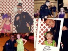 Police officers help when dad can't make dance