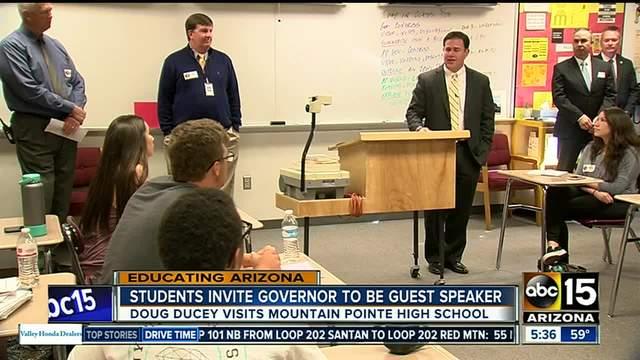 Students invite Arizona Governor Doug Ducey to school