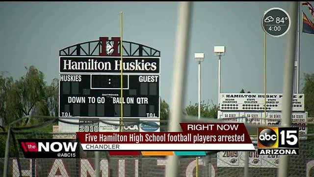 Six teens arrested in hazing case at Hamilton High School