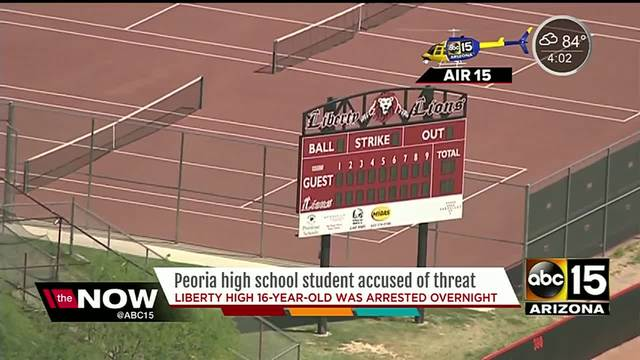 Liberty High 16-year-old arrested accused of school threat