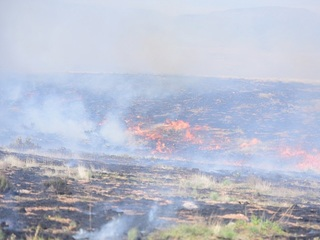 Small grass fire sparks in Prescott Valley