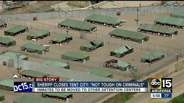 Sheriff Paul Penzone announces the closure of Tent City. & Tent City closed: Sheriff Paul Penzone shuts down facility after ...