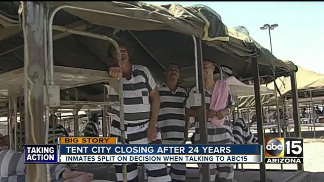 Tent City closed Sheriff Paul Penzone shuts down facility after 23 years of operation & Tent City closed: Sheriff Paul Penzone shuts down facility after ...