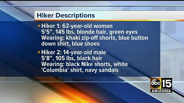 Search resumes for hiker, stepgrandson