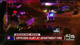 FD: 4 hurt, including 2 cops, in Mesa fire