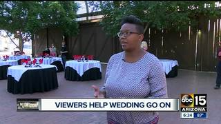 ABC15 viewer helps couple down the aisle