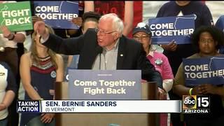 Sen. Sanders speaks at unity rally in Mesa