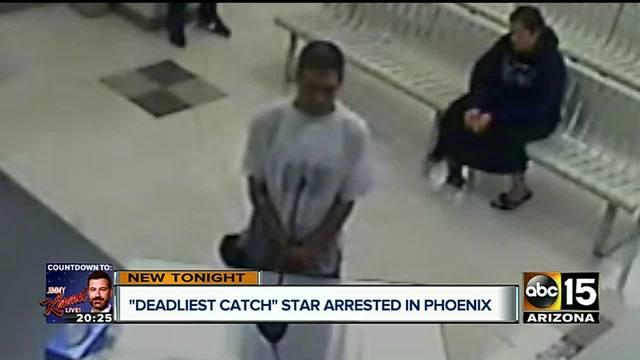 Former Deadliest Catch star arrested in Phoenix for car theft- drug possession