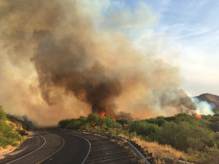 FD: Fire burning on Bush Highway near Mesa