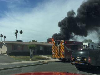 Fire crews battling blaze in Sun City