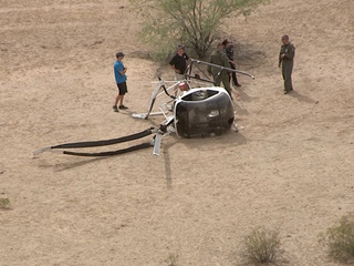 Mesa officer hurt in helicopter's hard landing