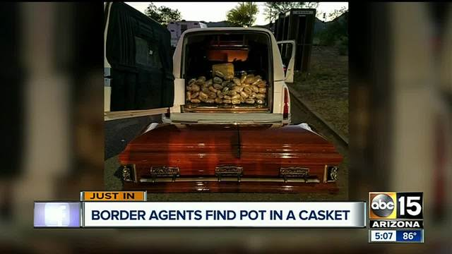 Border Patrol finds 67 pounds of pot hidden in a casket