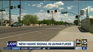 New HAWK crosswalk activated in Ahwatukee