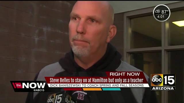 Steve Belles won't coach Hamilton High football team in 2017