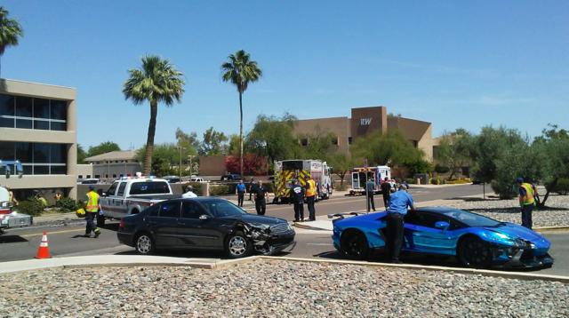 Car Crashes Into Building Scottsdale