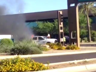 VIDEO: 3 hurt after car fire in Goodyear