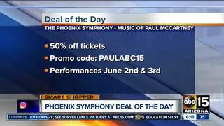 Go to the Phoenix Symphony and pay half price!