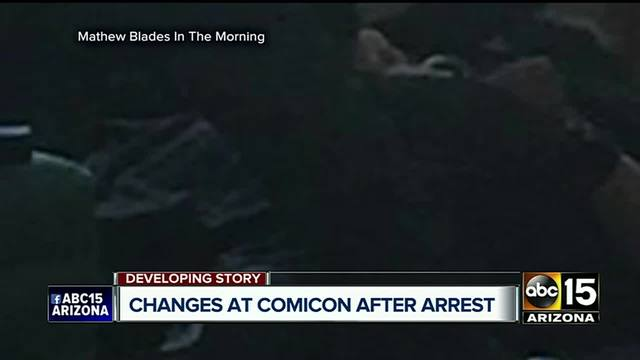 Armed man arrested by police at Phoenix Comicon convention