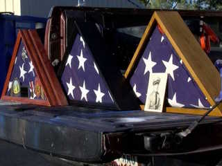 Dumpster diver finds burial flag in Tempe