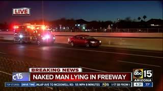 Naked man dies after being hit on I-17