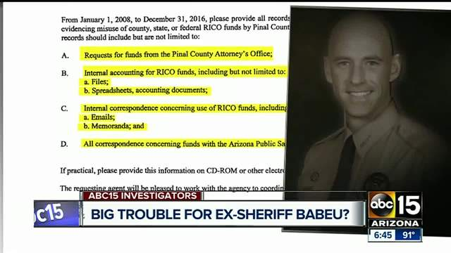 Investigation into ex-Pinal County Sheriff Babeu