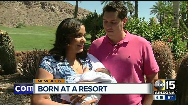 Baby born unexpectedly at Valley resort