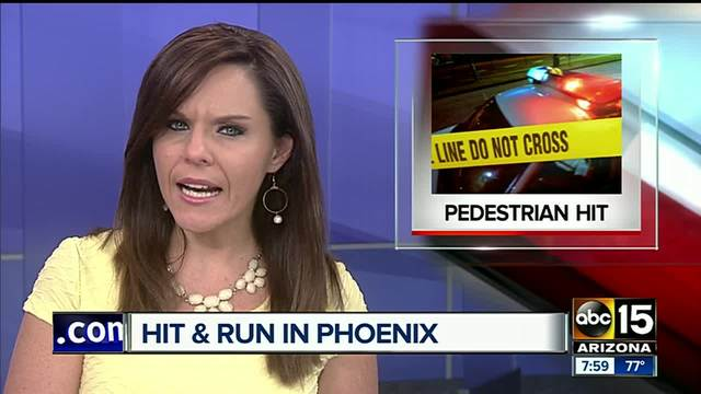 Pedestrian seriously hurt after hit-and-run crash in west Phoenix